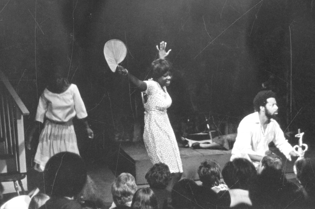 """Margaret Holloway, center, performs in the drama production, """"Recipe"""" In this June 12, 1974 photo provided by Bennington College in Bennington, VT. Ho..."""