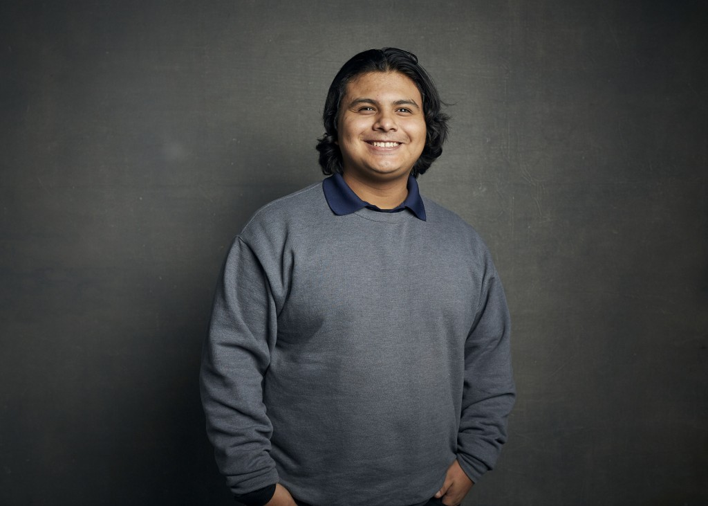 """FILE - Steven Garza poses for a portrait to promote the film """"Boys State"""" at the Music Lodge during the Sundance Film Festival in Park City, Utah on J..."""