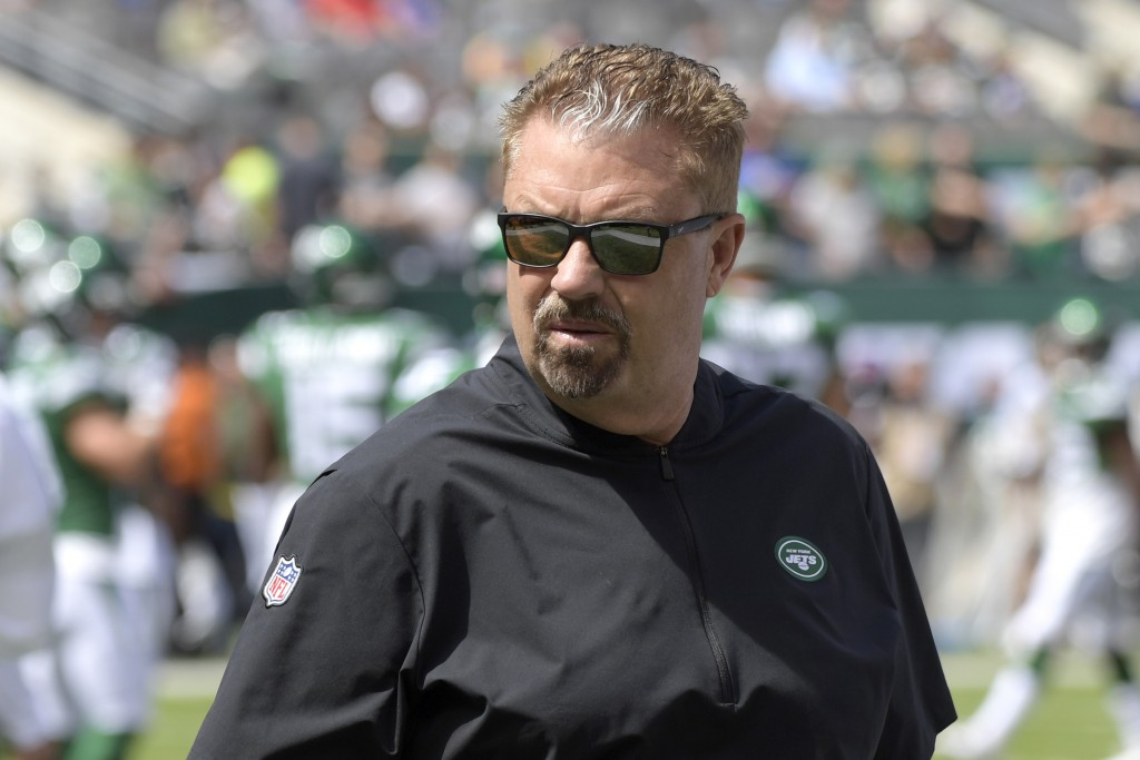 FILE - In this Sept. 8, 2019, file photo, New York Jets defensive coordinator Gregg Williams looks on before an NFL football game against the Buffalo ...