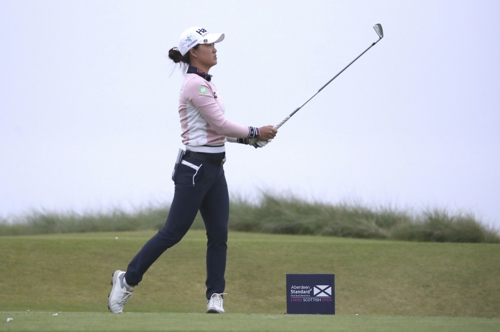 Australia's Minjee Lee tees off the 12th during day one of the Ladies Scottish Open golf tournament at The Renaissance Club, North Berwick, Scotland, ...