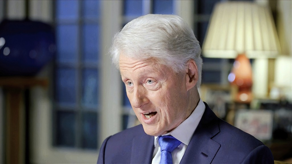 In this image from video, former President Bill Clinton speaks during the second night of the Democratic National Convention on Tuesday, Aug. 18, 2020...
