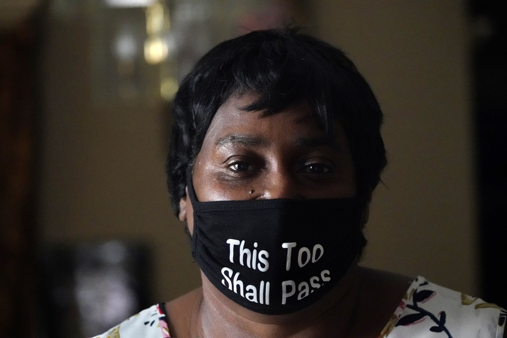 Mary Duplessis poses for a portrait in their home in New Orleans, Wednesday, Aug. 19, 2020. Levee breaches following Hurricane Katrina dumped 6 feet o...