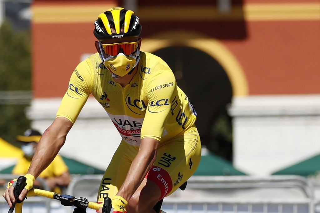 Alexander Kristoff of Norway wearing the overall leader's yellow jersey arrives for the second stage of the Tour de France cycling race over 186 kilom...