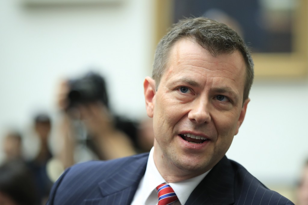 FILE - In this July 12, 2018, file photo, then-FBI Deputy Assistant Director Peter Strzok, waits for the start of a House Judiciary Committee joint he...
