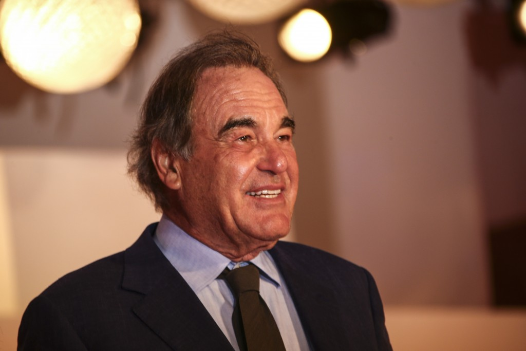 Director Oliver Stone poses for photographers upon arrival at the un-jung Jung premiere of the film 'Miss Marx' during the 77th edition of the Venice ...