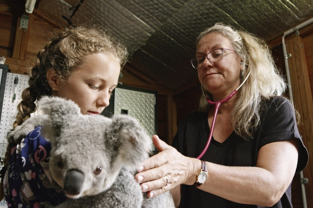 """This image released by Netflix shows Ali Bee, right and Izzy Bee in a scene from """"Izzy's Koala World,"""" which follows an 11-year old girl as she helps ..."""