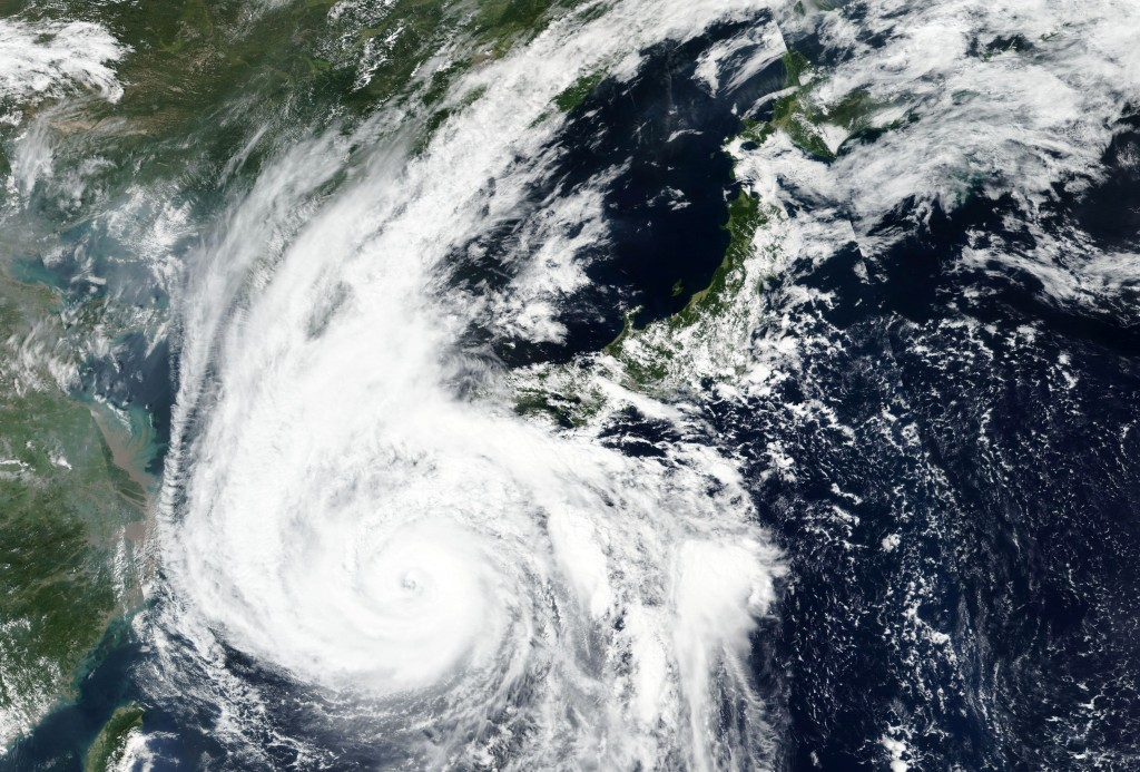 FILE - This Sept. 6, 2020, file satellite image released by NASA Worldview, Earth Observing System Data and Information System (EOSDIS) shows Typhoon ...