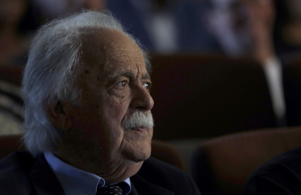 FILE —In this Tuesday, March 28, 2017 file photo, George Bizos, anti-apartheid activist, life-long friend and lawyer of the late former President Nels...