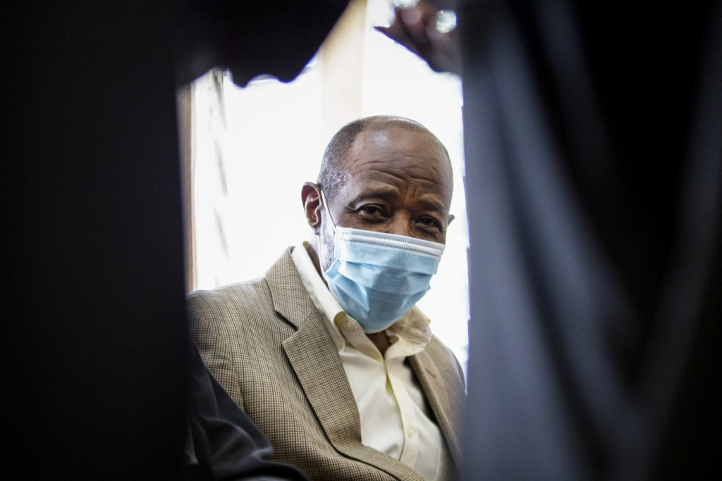 "Paul Rusesabagina, who inspired the film ""Hotel Rwanda"" for saving people from genocide, appears at the Kicukiro Primary Court in the capital Kigali, ..."