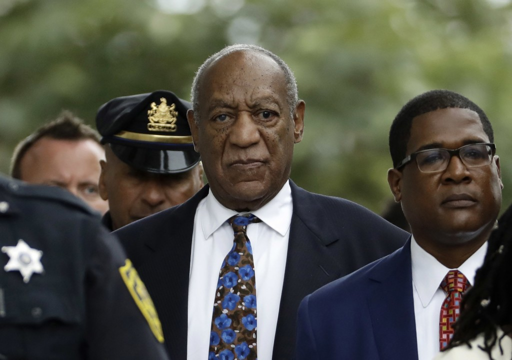 FILE - In this Sept. 24, 2018, file photo, Bill Cosby departs after a sentencing hearing at the Montgomery County Courthouse in Norristown, Pa. Legal ...