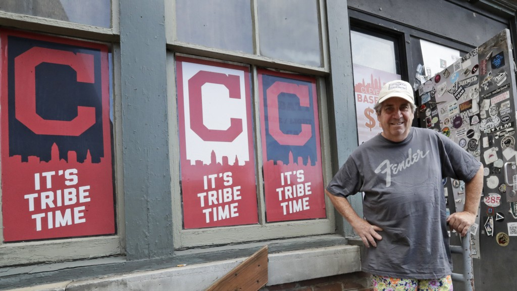 Mike Miller, owner of Wilbert's Food & Music, poses in front of the restaurant before a baseball game between the Minnesota Twins and the Cleveland In...