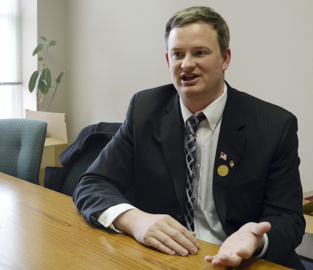 FILE - In this Feb. 23, 2014, file photo Jason Ravnsborg speaks in Sioux Falls, S.D. South Dakota Attorney General Jason Ravnsborg reported hitting a ...