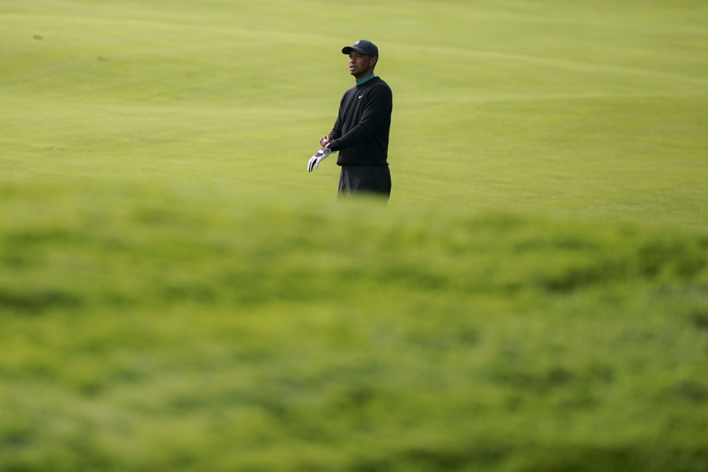 Tiger Woods walks the 11th fairway during practice before the U.S. Open Championship golf tournament at Winged Foot Golf Club, Tuesday, Sept. 15, 2020...