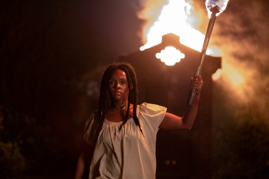 """This image released by Lionsgate shows Janelle Monae in a scene from """"Antebellum."""" (Matt Kennedy/Lionsgate via AP)"""