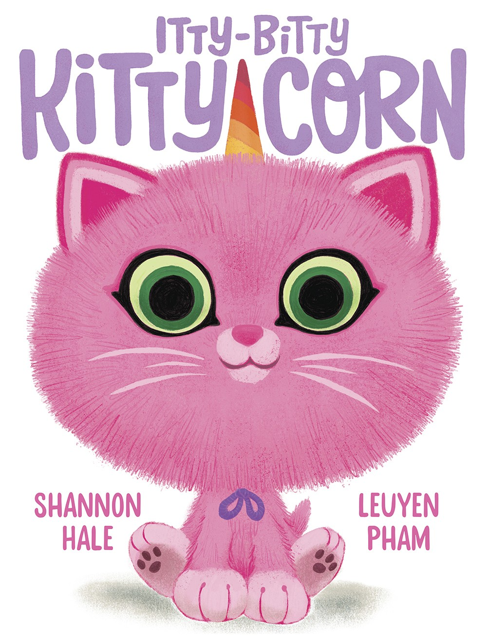 """This cover image released by Abrams Books shows """"Itty-Bitty Kitty-Corn,"""" by writer Shannon Hale and illustrator LeUyen Pham. The book, planned for nex..."""