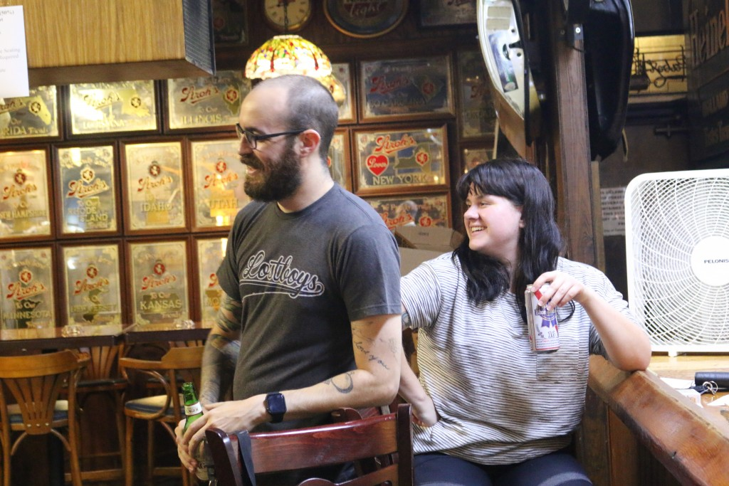 Zach Preston and his wife Allie Preston are regulars at The Leon Pub in Tallahassee, Fla. They spent Monday night, Sept. 14, 2020, at the once-popular...