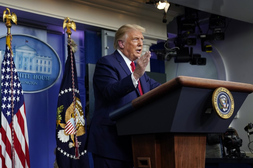 President Donald Trump speaks during a news conference at the White House, Wednesday, Sept. 16, 2020, in Washington. (AP Photo/Evan Vucci)