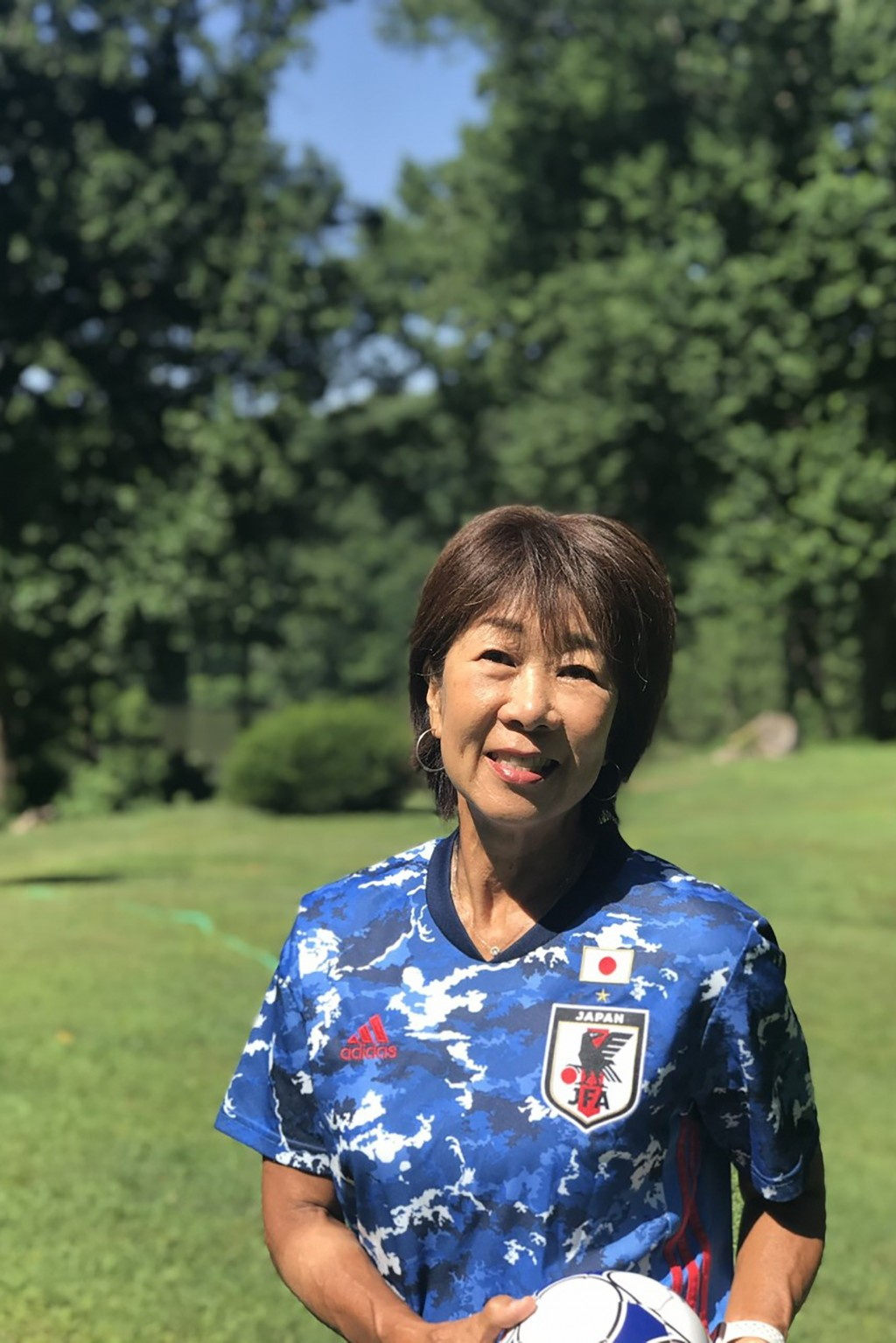 This handout provided by Kikuko Okajima, shows Kikuko Okajima at her home in Baltimore, Md. The woman leading Japan's ambitious effort to launch a pro...