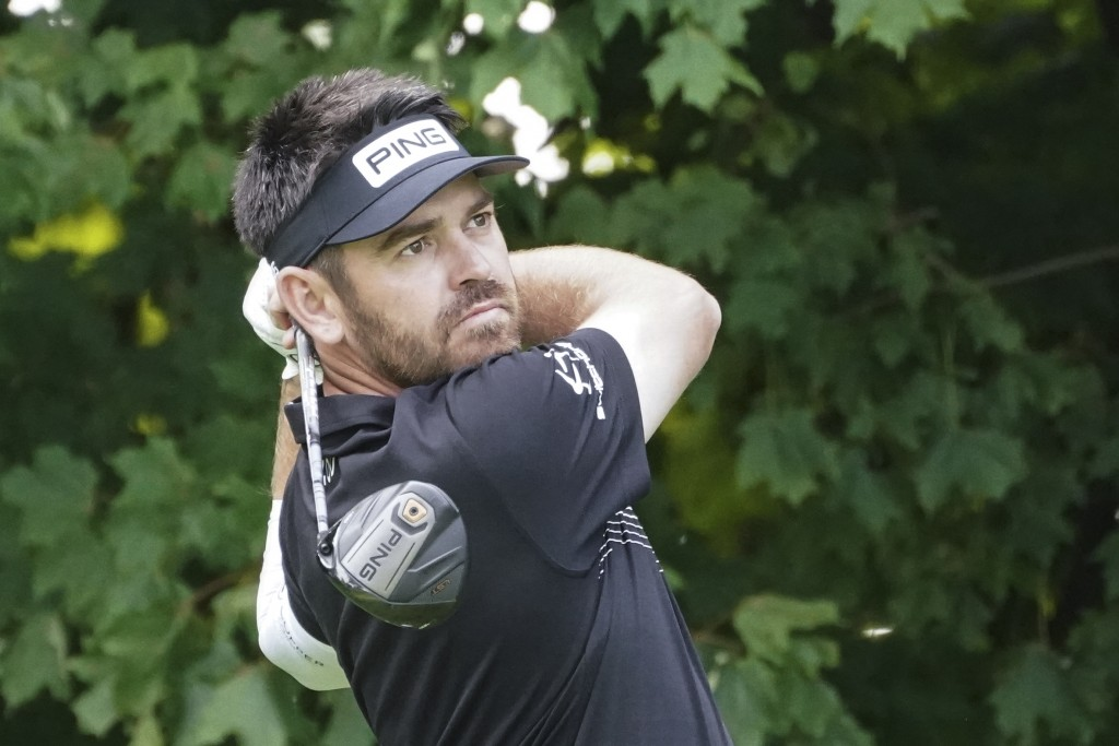 Louis Oosthuizen plays a shot off the 12th tee during practice for the U.S. Open Championship golf tournament at Winged Foot Golf Club, Wednesday, Sep...