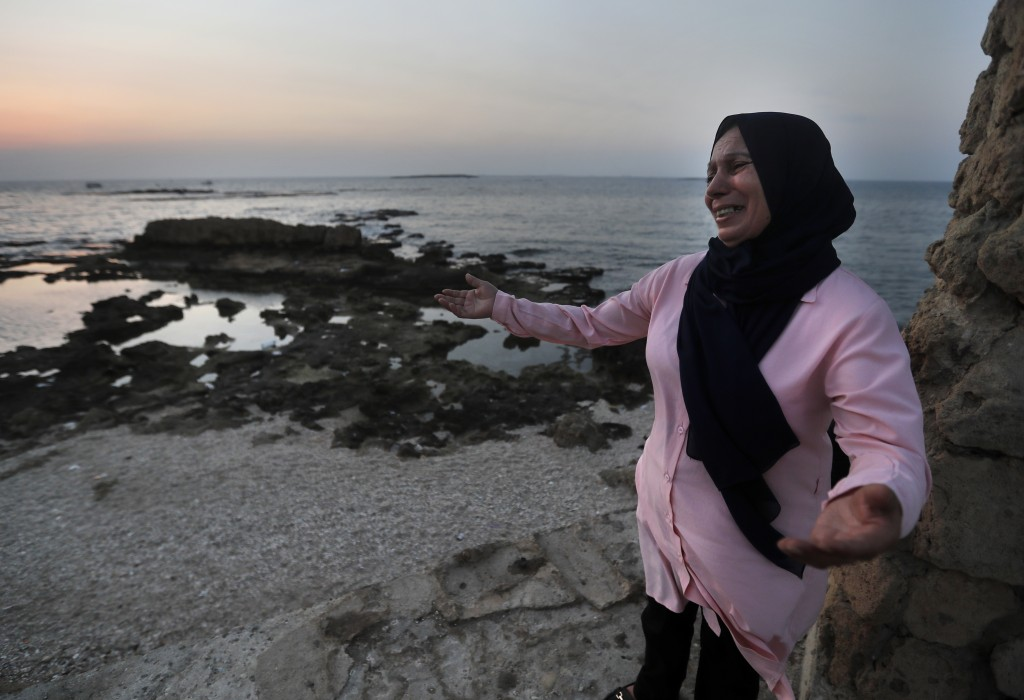 Lebanese Afaf Adulhamid the mother of Mohammed Khaldoun, 27, who is still missing at sea while he was trying with other migrants to reach Cyprus on a ...