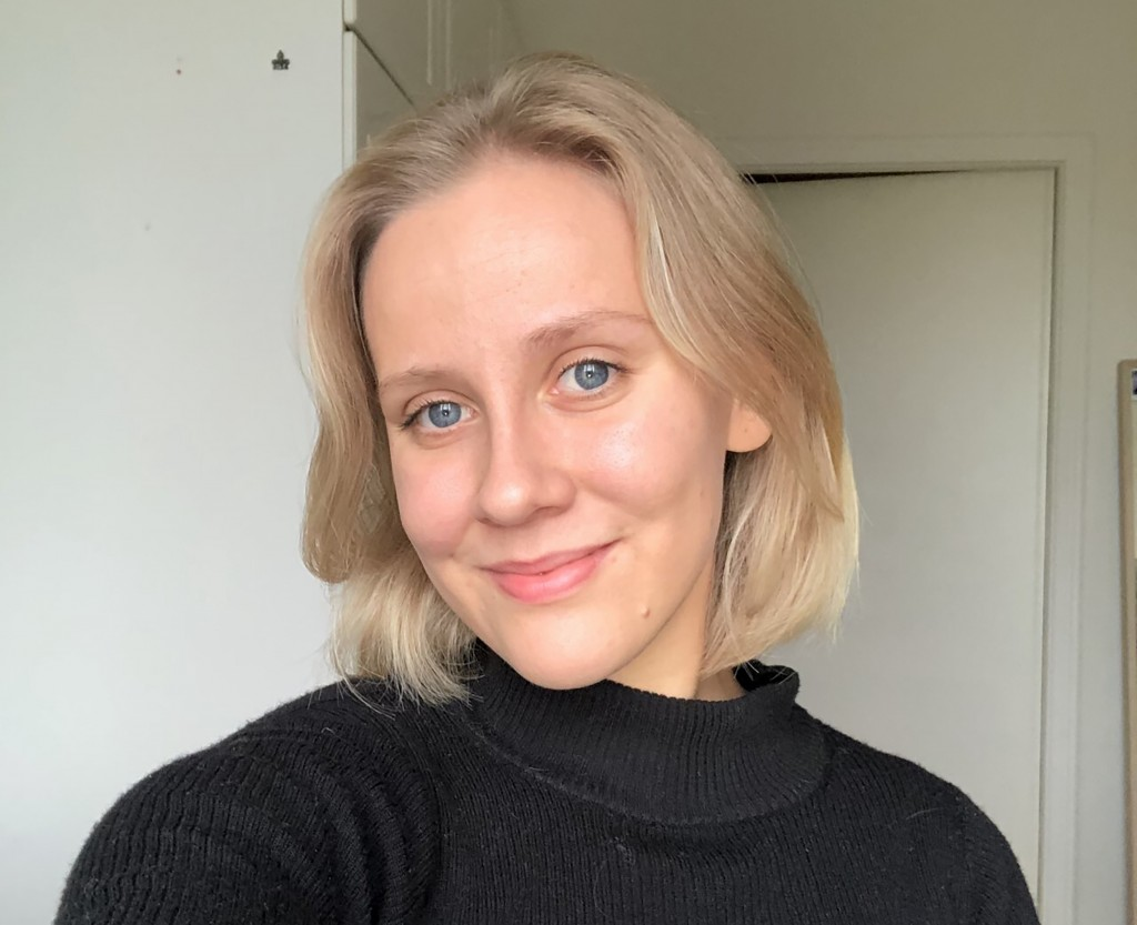 Ella Ahmas, a 23-year-old business student at Aalto University, poses for a selfie photo in Helsinki, Finland, Sept. 15, 2020. With no end in sight to...