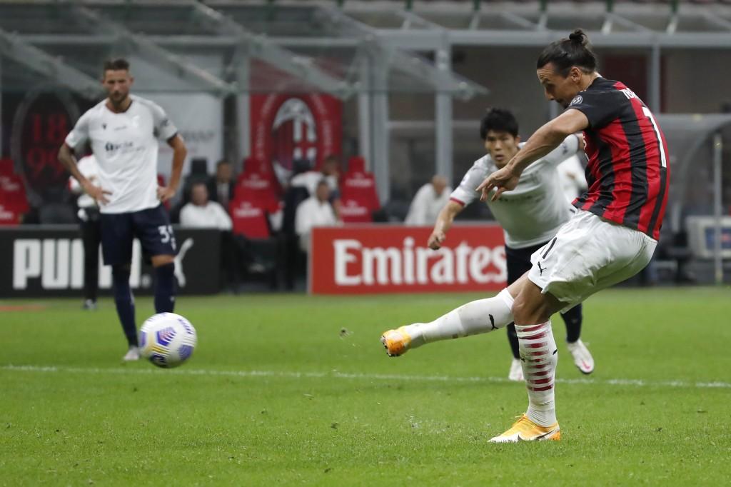 Ibrahimović scores twice as Milan beats Bologna 2-0 | Taiwan News