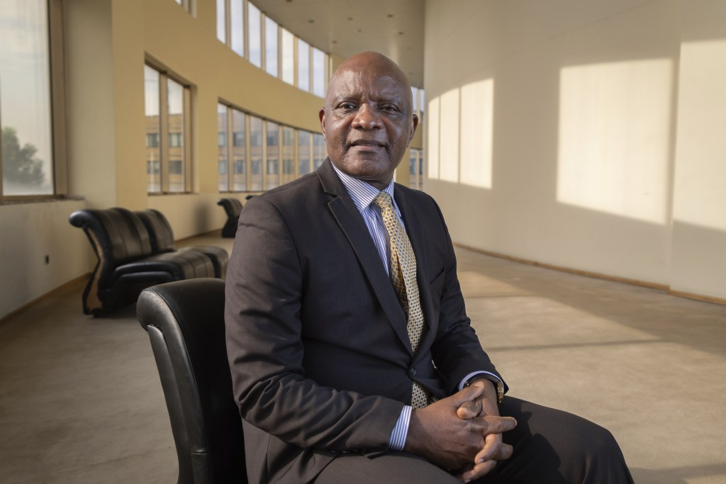 John Nkengasong, director of the Africa Centers for Disease Control and Prevention, poses for a portrait at the organization's headquarters in Addis A...