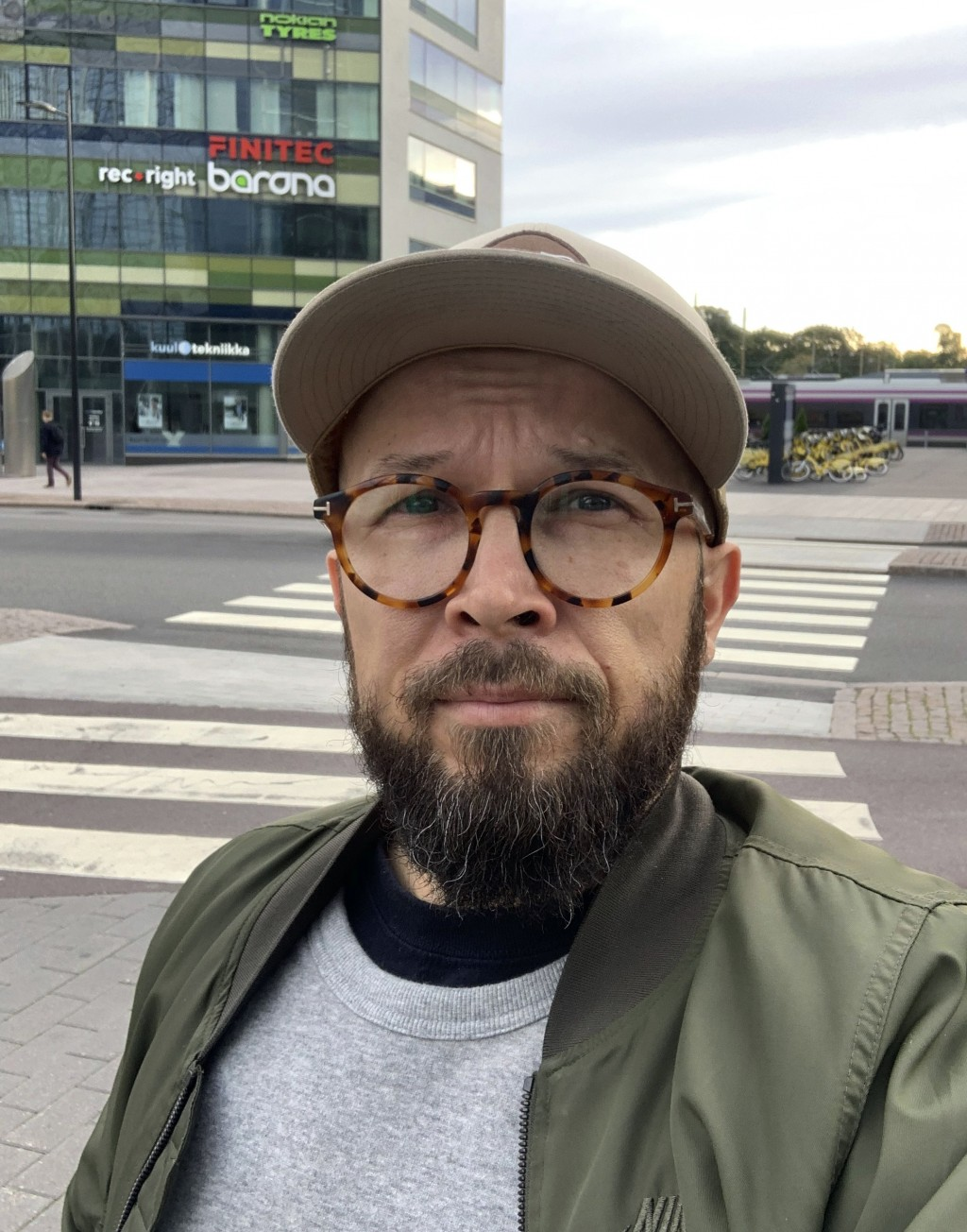 William Oesch poses for a selfie photo on Sept. 21, 2020 in Helsinki. With no end in sight to the global pandemic, more countries and states are turni...