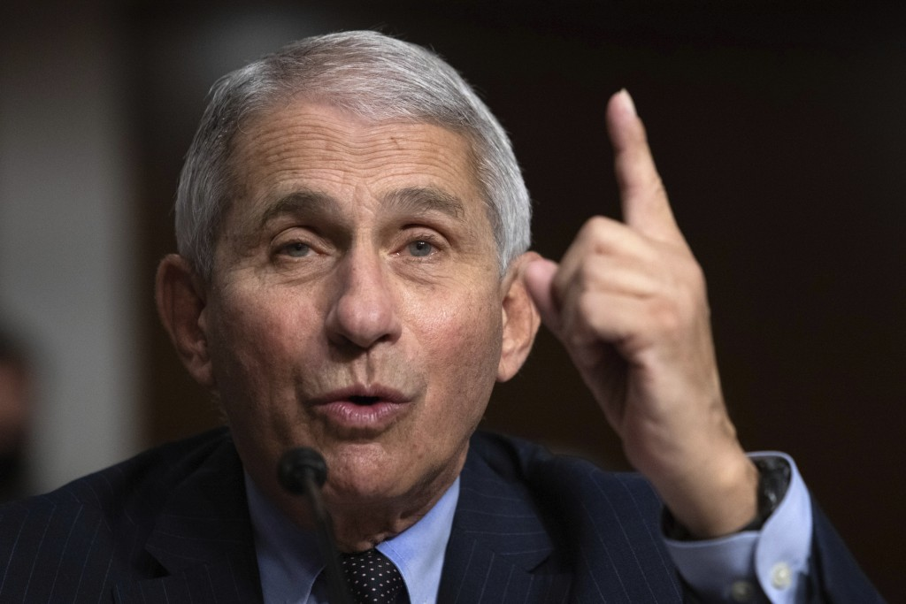 Dr. Anthony Fauci, Director of the National Institute of Allergy and Infectious Diseases at the National Institutes of Health, testifies during a Sena...