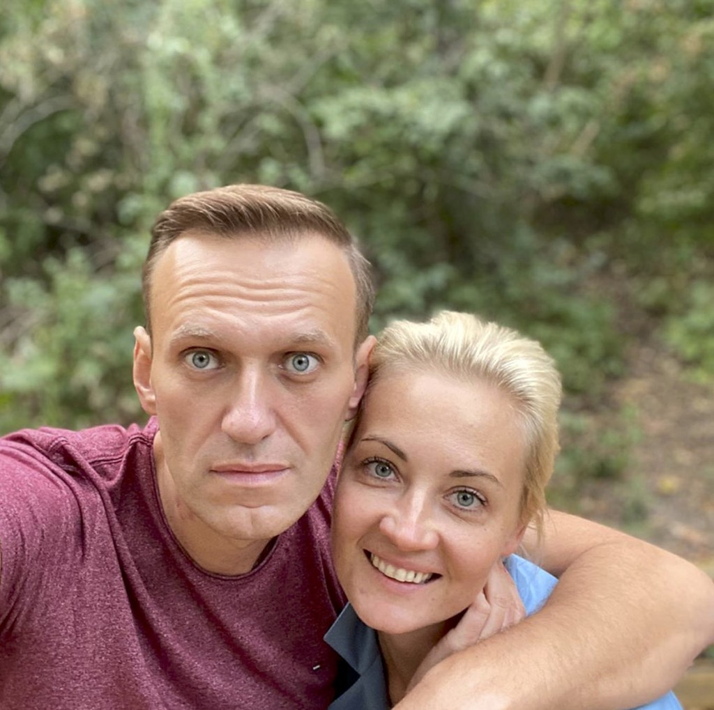 In this photo published by Russian opposition leader Alexei Navalny on his instagram account on Friday, Sept. 25, 2020, Russian opposition leader Alex...