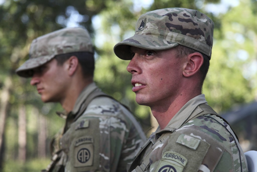 Staff Sergeant Ryan Graves talks about the death of his fellow solider, Staff Sergeant Jason Lowe, during an interview on Wednesday, Aug. 26, 2020, on...