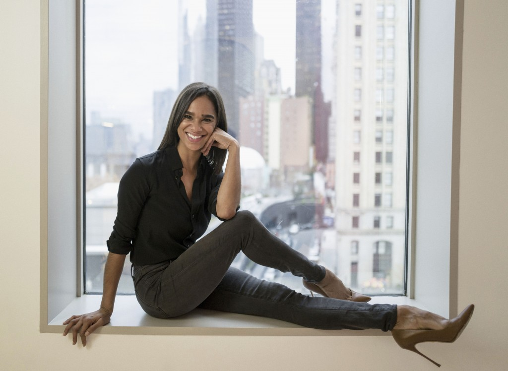 FILE - In this Nov. 19, 2019, file photo, American Ballet Theatre's principal dancer Misty Copeland poses for a portrait in New York. Copeland's new c...
