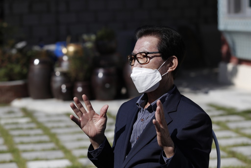 A local resident Shin Dae-sik, 83, speaks during an interview at his home in Cheongju, South Korea, Friday, Sept. 25, 2020. The coronavirus is forcing...
