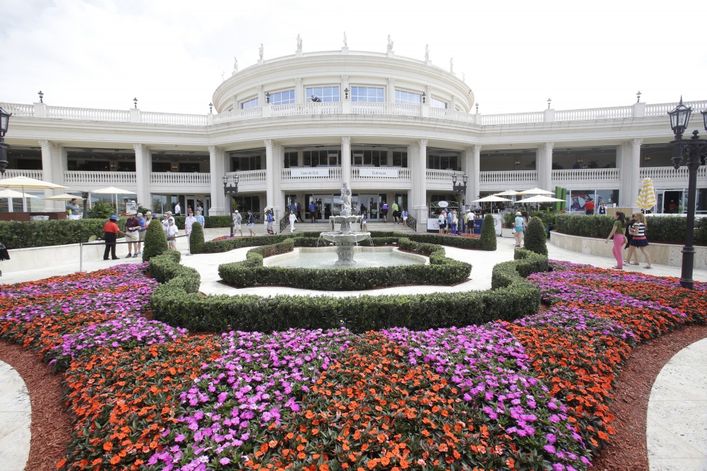 FILE - This March 7, 2015 file photo shows the Trump National Doral clubhouse in Doral, Fla. Trump's true financial picture has gotten renewed scrutin...