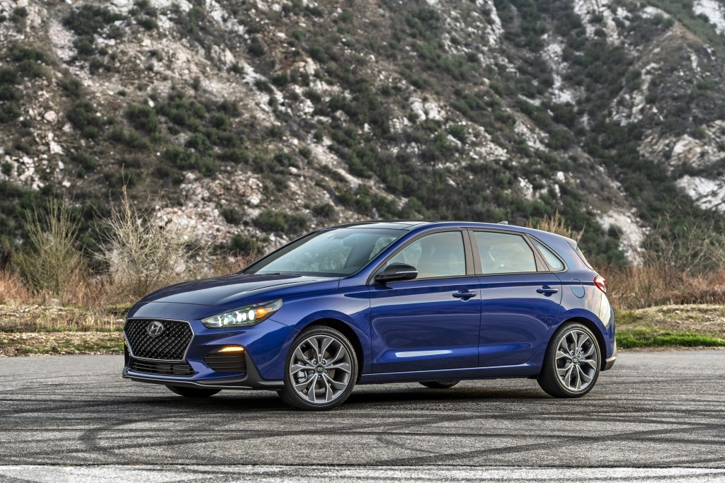 This photo provided by Hyundai shows the 2020 Hyundai Elantra GT, a small hatchback that offers ample interior space and an optional turbo engine with...