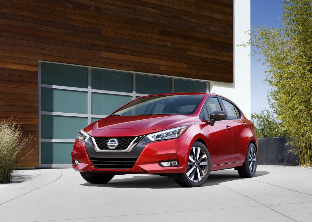This photo provided by Nissan shows the 2020 Nissan Versa, a small sedan that has been recently redesigned and is a far better vehicle than the model ...