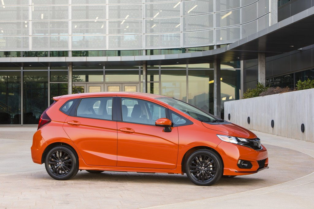 This photo provided by Honda shows the 2020 Honda Fit, a small hatchback with plenty of cargo space. The Fit will be discontinued this year. With the ...