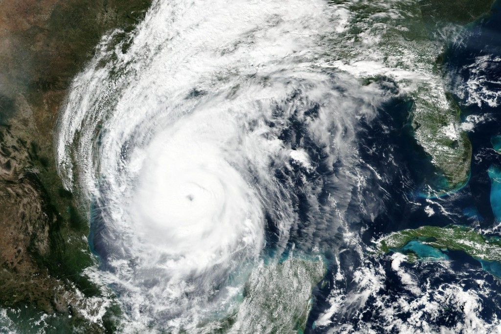 This Thursday, Oct. 8, 2020, satellite image released by NASA Worldview, Earth Observing System Data and Information System (EOSDIS) shows Hurricane D...