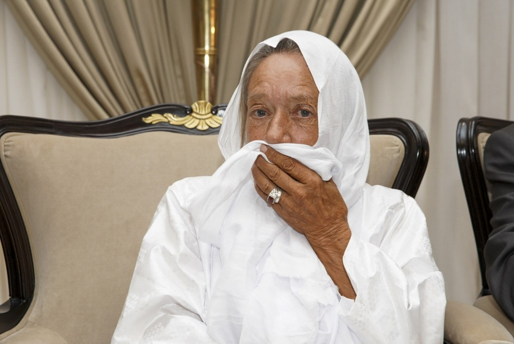 In this photo provided by the Mali Presidency, French ex-hostage Sophie Petronin is seen at the presidential palace after being released and flown to ...