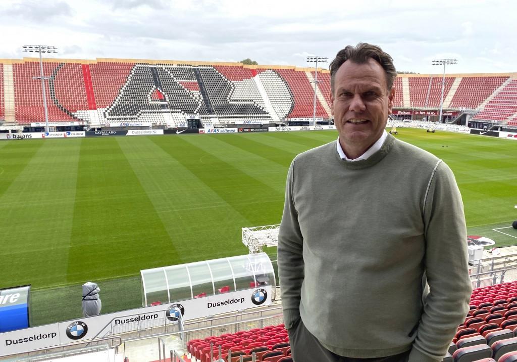 Robert Eenhoorn, CEO of soccer club AZ Alkmaar, stands inside AFAS Stadium in Alkmaar, the Netherlands, Sept. 30, 2020. Despite a small budget, Dutch ...