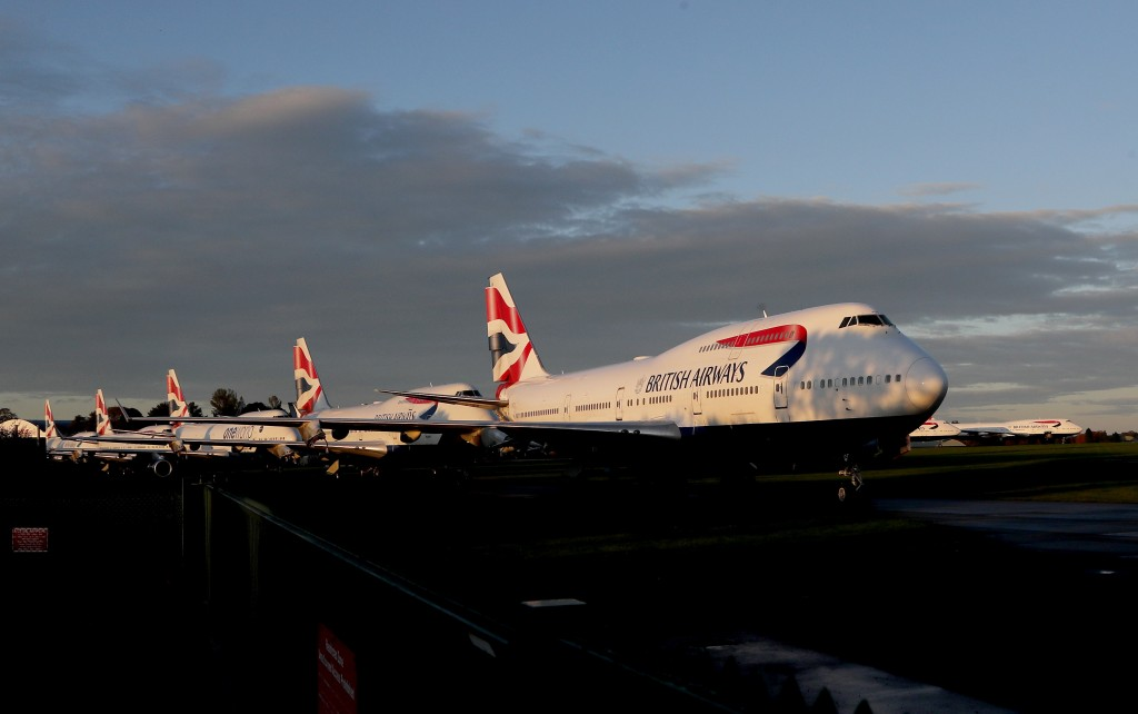 Retired British Airways Boeing 747-400 parked at Cotsworld Airport in Kemble, England, Sunday, Oct. 11, 2020. The retirement of the Jumbo Jet fleet wa...