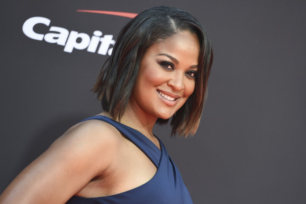 FILE - In this July 10, 2019, file photo, Laila Ali arrives at the ESPY Awards in Los Angeles. Ali will host the Women's Sports Foundation awards show...