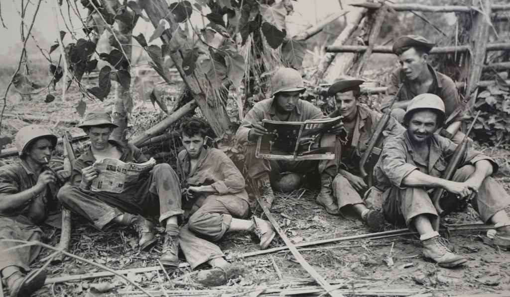 FILE - This Aug. 2, 1944 photo, courtesy of the U.S. Army Signal Corps, shows members of the famed WWII Army unit Merrill's Marauders less than 75 yar...