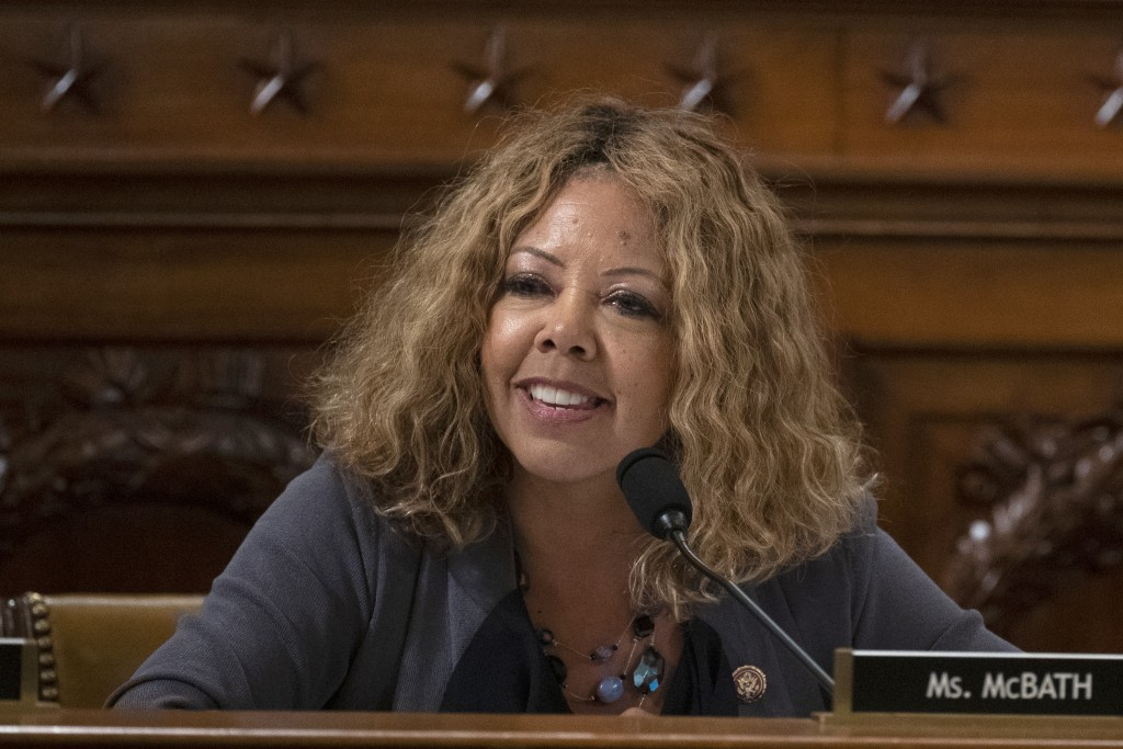 U.S. Rep. Lucy McBath, shown in a Thursday Dec. 12, 2019 file photo on Capitol Hill in Washington, is seeking re-election in suburban Atlanta's 6th Co...