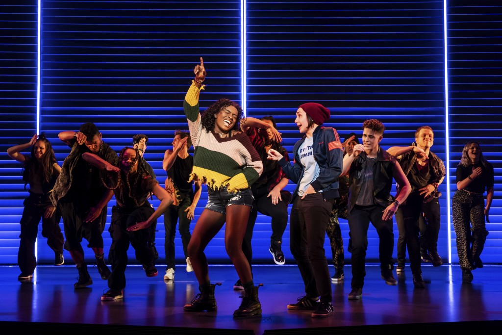 "This image released by Vivacity Media Group shows Celia Rose Gooding, center left, with the company during a performance of ""Jagged Little Pill."" Nomi..."