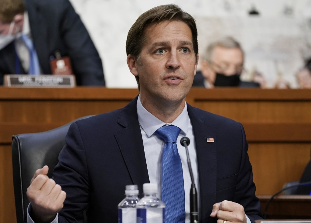 Sen. Ben Sasse, R-Neb., speaks during the confirmation hearing for Supreme Court nominee Amy Coney Barrett, before the Senate Judiciary Committee, Wed...
