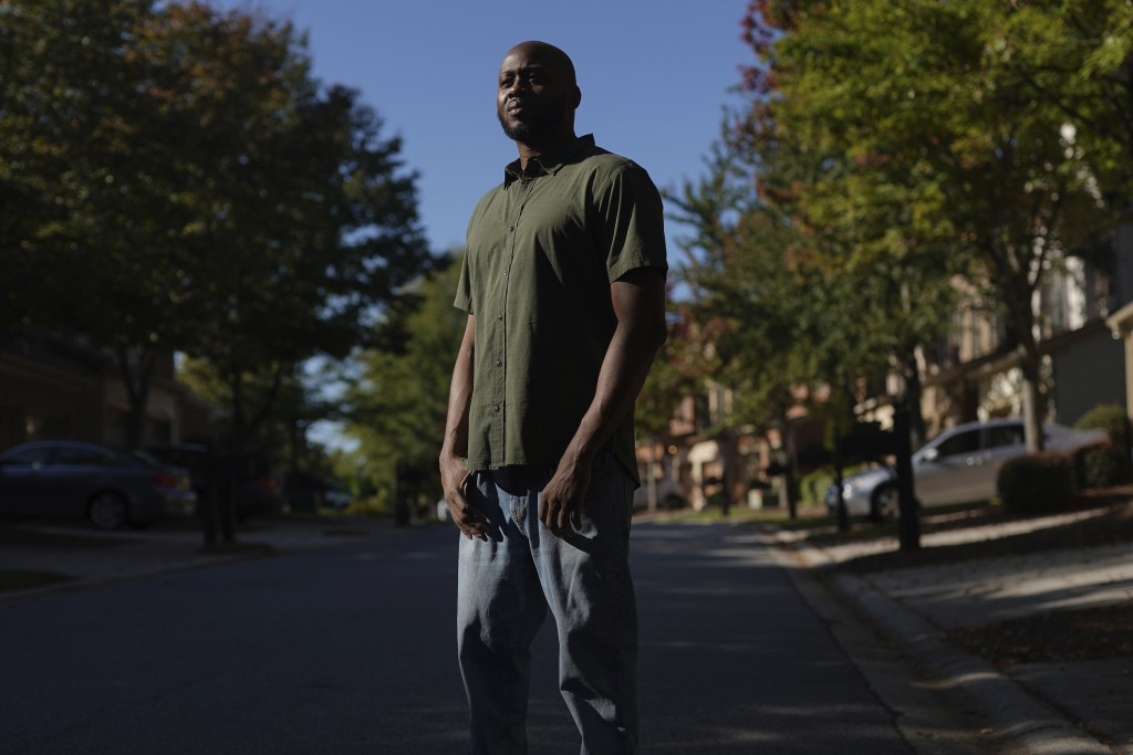 Theo Brown poses for a portrait outside his home in Marietta, Ga., on Wednesday, Oct. 14, 2020. While at the Drug Enforcement Administration's Trainin...