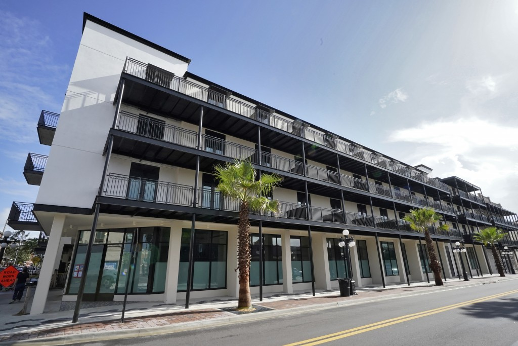 The Hotel Haya is shown Monday, Aug. 31, 2020, in Tampa, Fla. When the pandemic hit, the Aparium group was deep into construction on six new hotels, t...