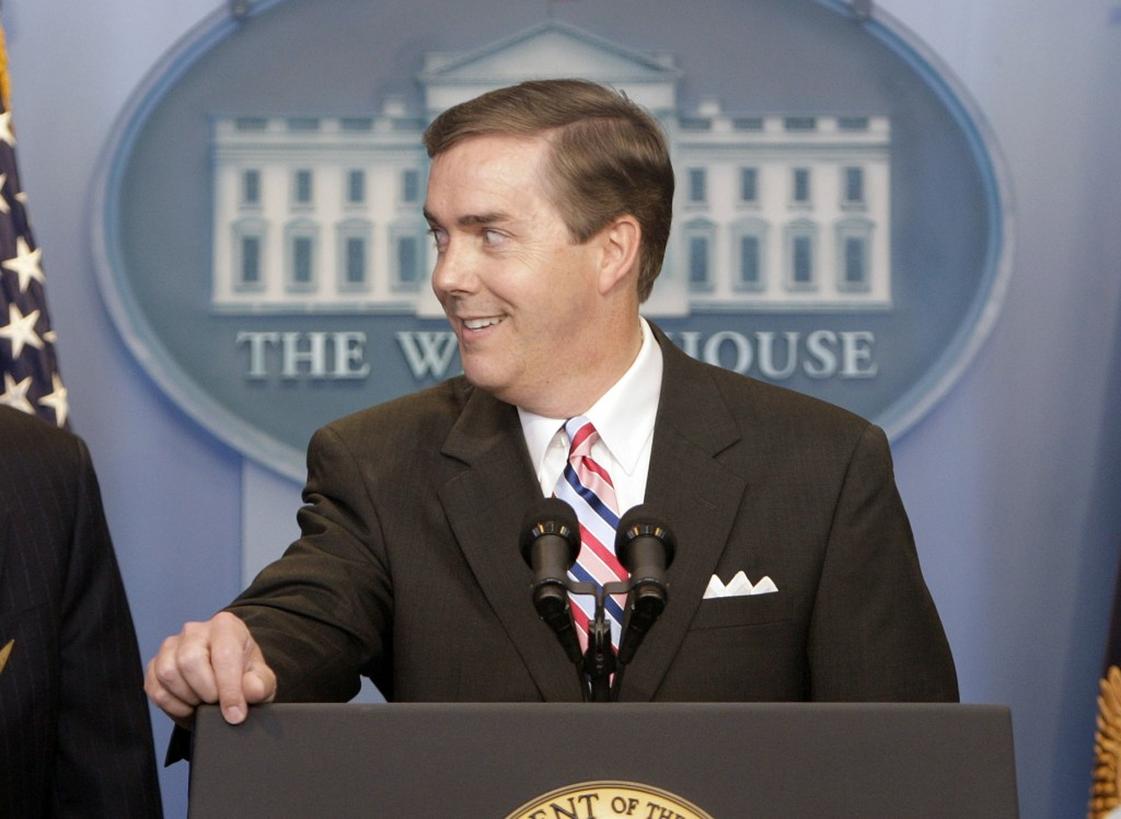 FILE - White House Correspondents Association President Steve Scully appears at a ribbon-cutting ceremony for the James S. Brady Press Briefing Room a...