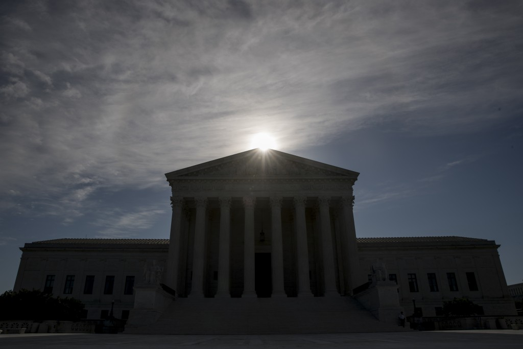 FILE - This May 4, 2020, file photo shows the Supreme Court building in Washington. Controversial Trump administration policies on the census, asylum ...